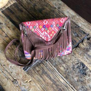 Handbags - Southwestern handmade leather crossbody fringe